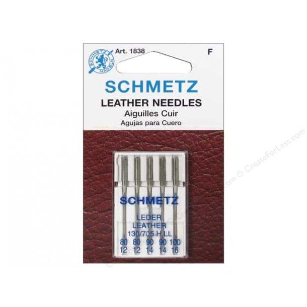 Schmetz blandet Læder nåle 5 stk.