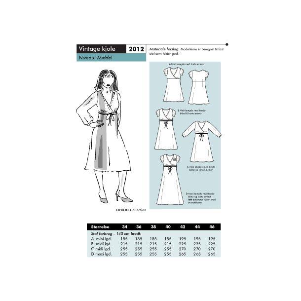 2012 Vintage kjole