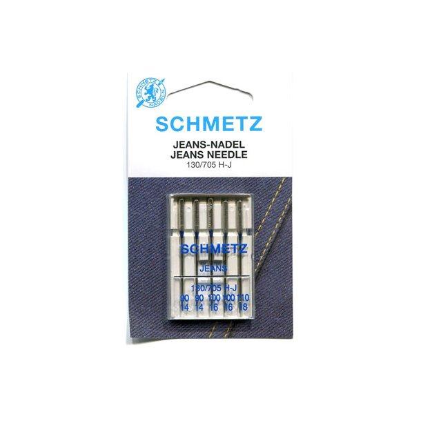 Schmetz blandet Jeans nåle 5stk.